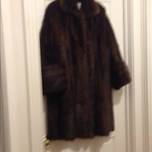 Jackets & Blazers - Mink coat Dark Golden Brown Size L